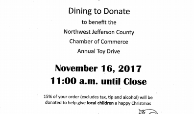 Dining to Donate – November 16th!