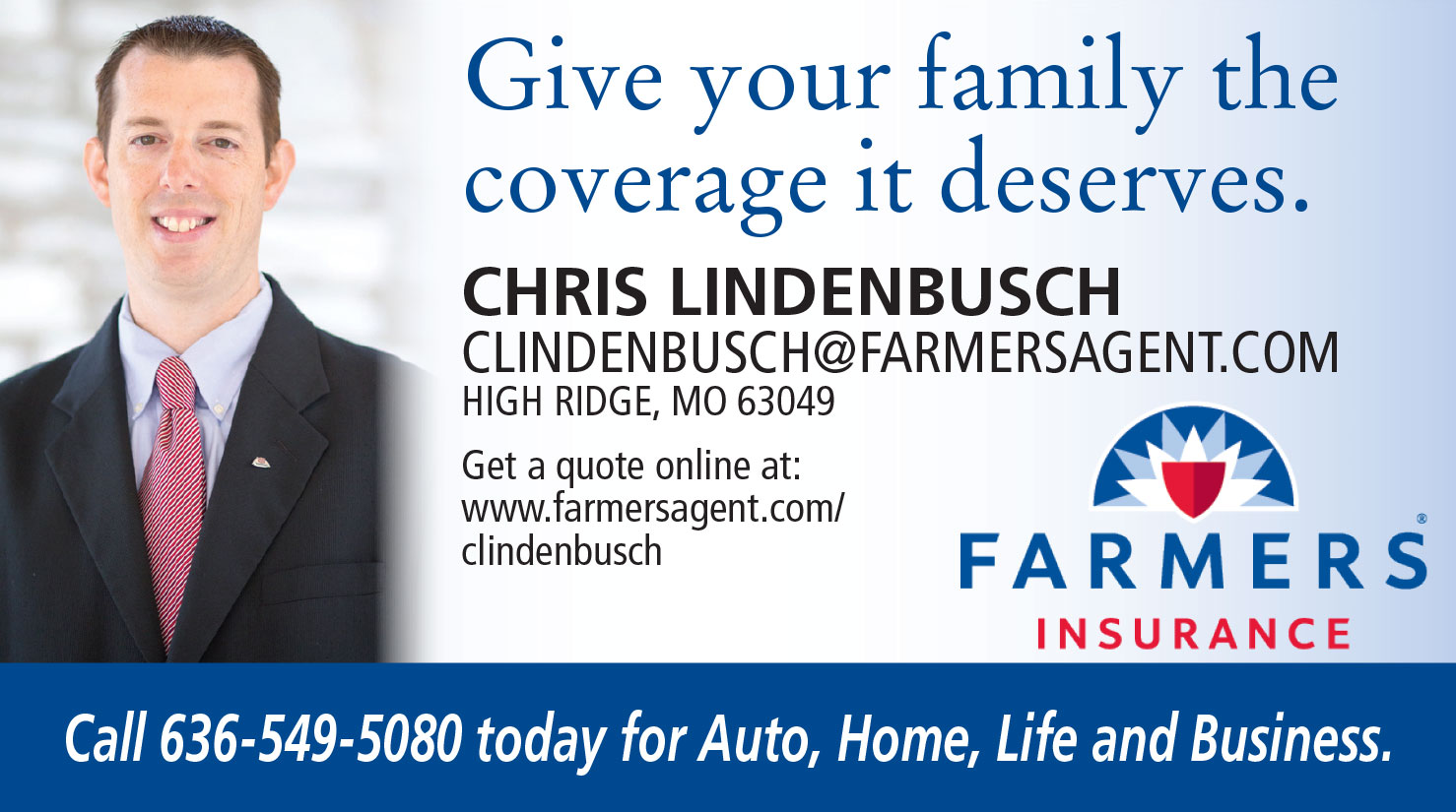Farmers Insurance Quote Business Of The Month Christopher Lindenbusch With Farmers